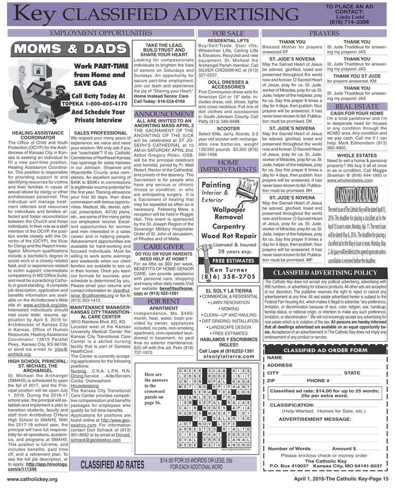 Key Classifieds - April 1, 2016