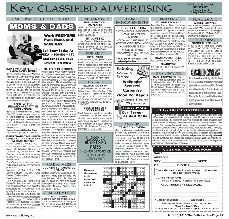 Key Classifieds, April 15, 2016