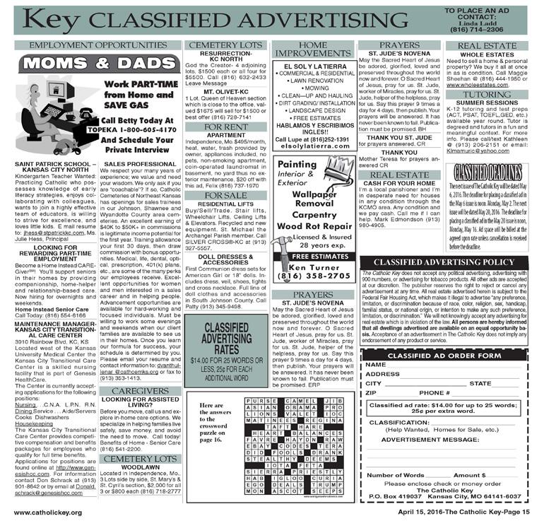 Key Classifieds, April 15, 2016