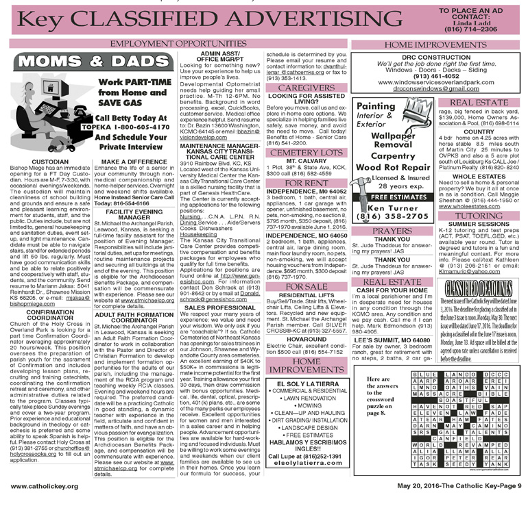 Key Classifieds, May 20, 2016