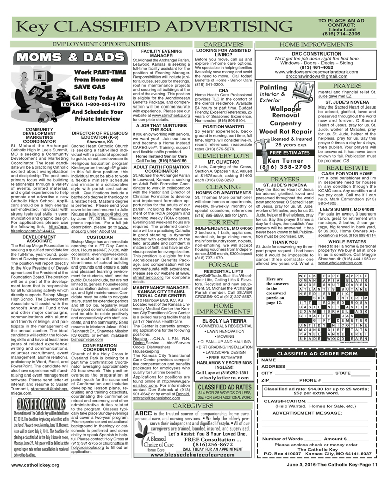 Key Classifieds - June 3, 2016