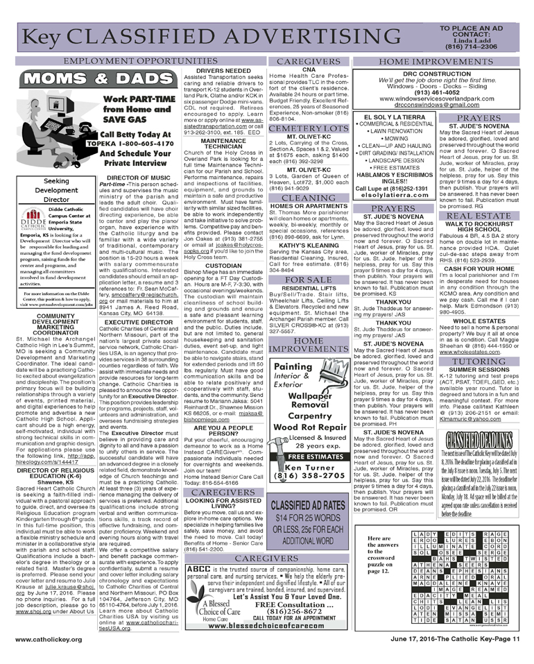 Key Classifieds - June 17, 2016