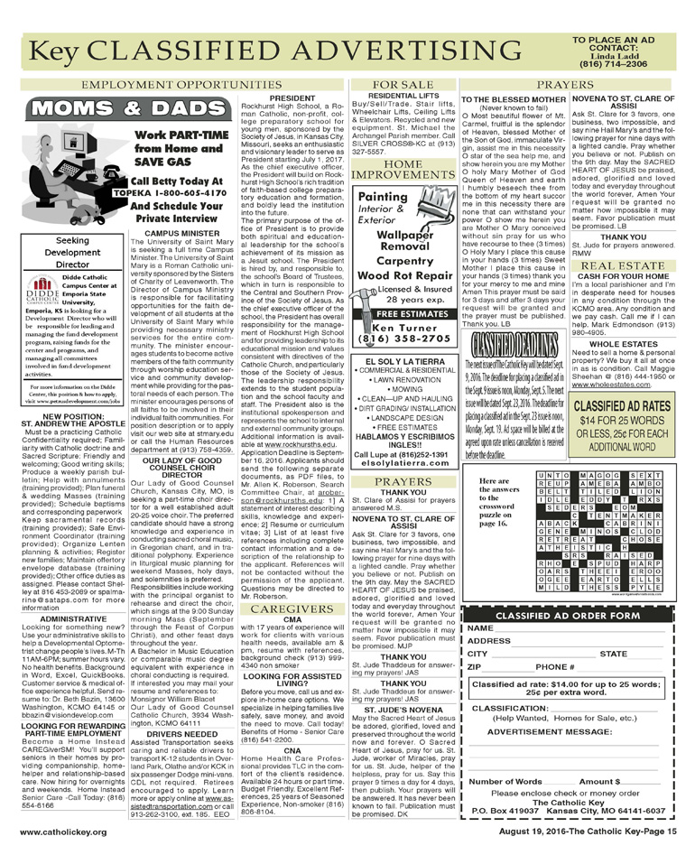 Key Classifieds - August 19, 2016