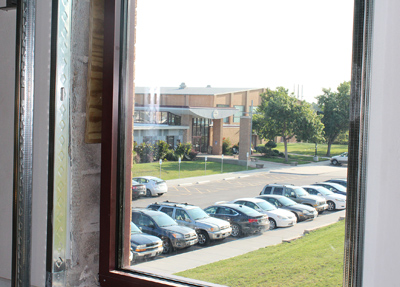 The view from the renovated convent. (photo courtesy St. Pius X High School)