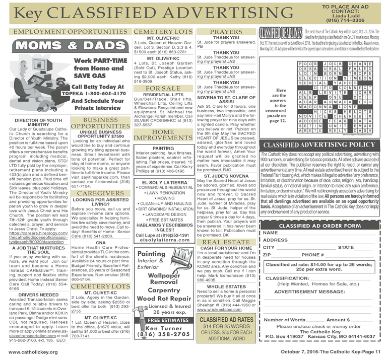 Key Classifieds - October 7, 2016