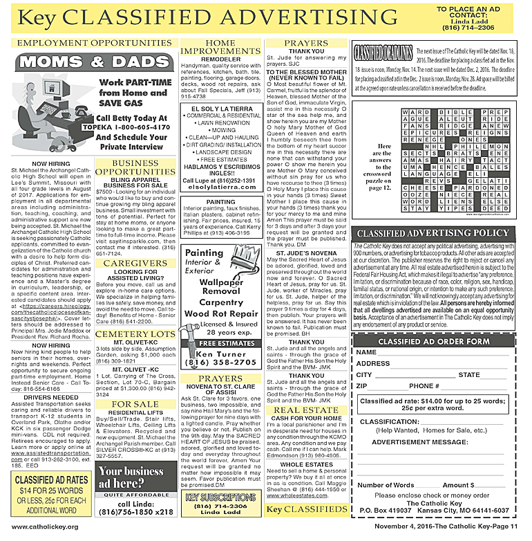 Key Classifieds - November 4, 2016