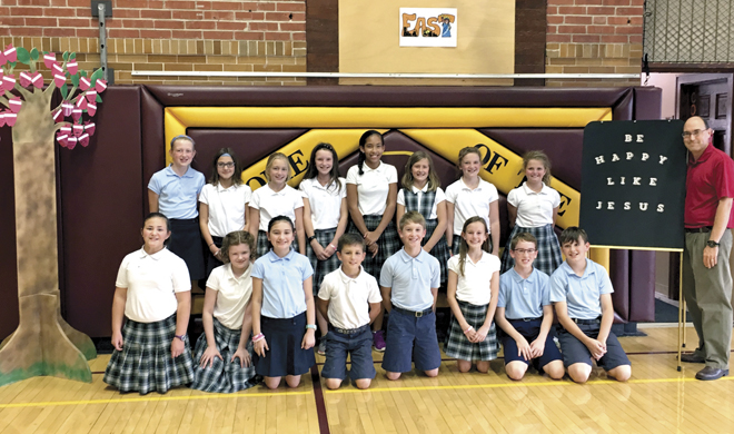 "Mrs. Trapp's fifth grade class won St. Francis Xavier School in St. Joseph's October ""Thrive Like Jesus"" contest.  (Photo courtesy of St. Francis Xavier School)"