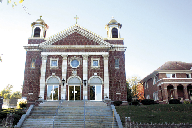 St. Mary Parish's current church was built in 1913 at a cost of $32,000 and was patterned after St. Peter's Basilica in Rome.  (Sara Kraft/Key photo)
