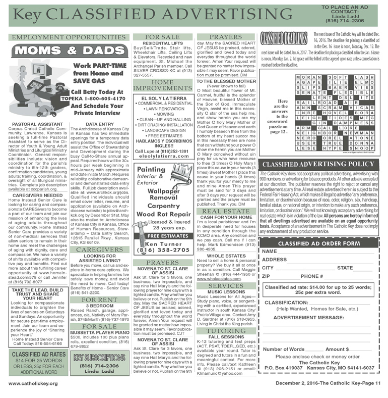 Key Classifieds - December 2, 2016