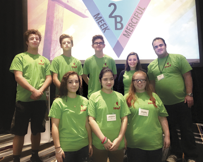 Members of St. Charles Borromeo Youth Group at KCYC 2016. (Photo-Jen DeCoster)
