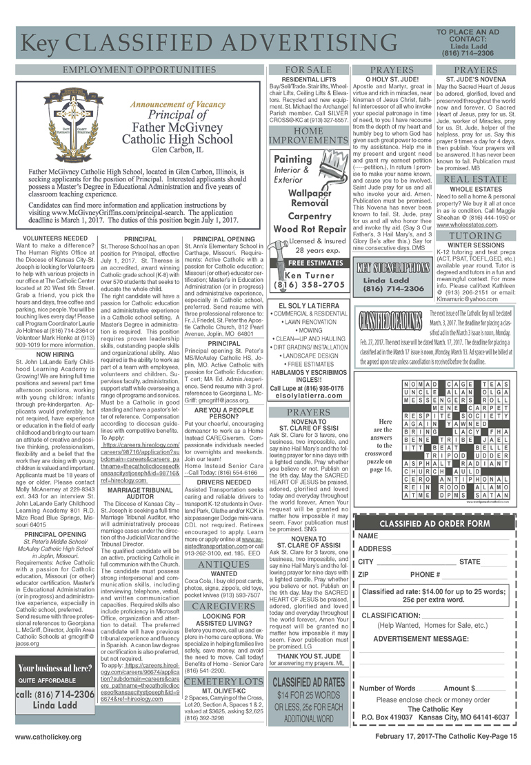 Page 2 of Feb 17, 2017 Classifieds